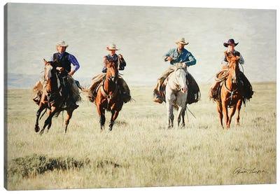 Giddy Up Horse Canvas Art Print
