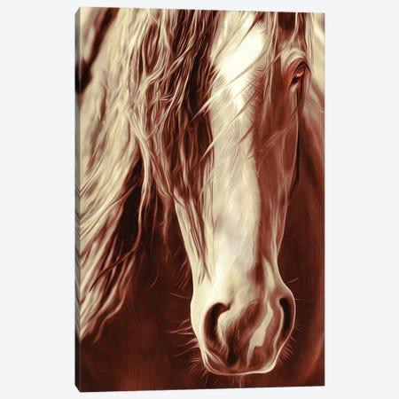 Sepia Rodeo Horse Canvas Print #RHT90} by Rhonda Thompson Art Print