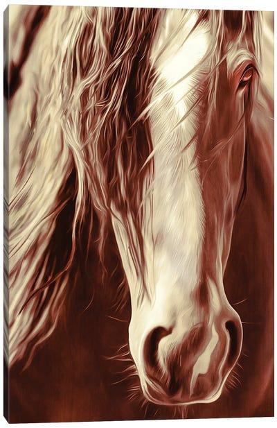 Sepia Rodeo Horse Canvas Art Print