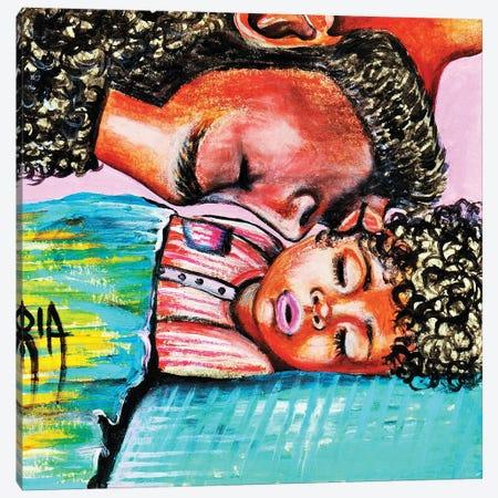 Good Night Kiss Canvas Print #RIA106} by Artist Ria Canvas Art Print