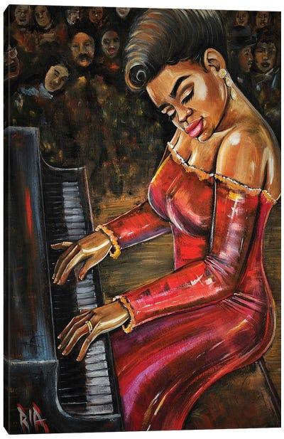 Black Keys Only Canvas Art Print