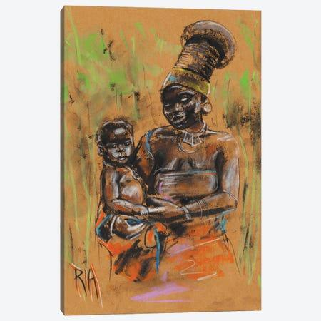 Mangbetu Canvas Print #RIA114} by Artist Ria Canvas Wall Art