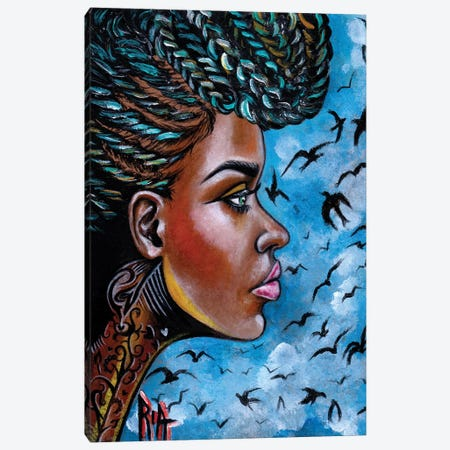 Crowned Royal Canvas Print #RIA11} by Artist Ria Canvas Print