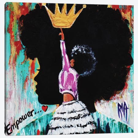 Empower Canvas Print #RIA14} by Artist Ria Canvas Wall Art