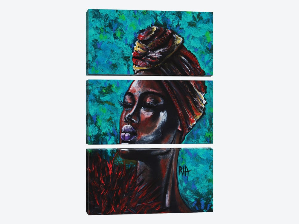 Feeling Royal by Artist Ria 3-piece Canvas Print