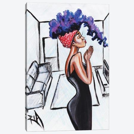 Her Prayer Canvas Print #RIA22} by Artist Ria Canvas Wall Art