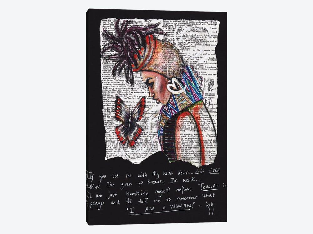I Am A Woman by Artist Ria 1-piece Canvas Art Print