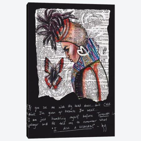 I Am A Woman Canvas Print #RIA24} by Artist Ria Art Print