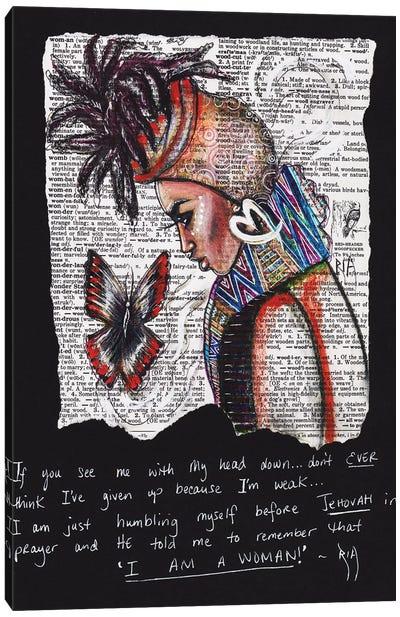 I Am A Woman Canvas Art Print