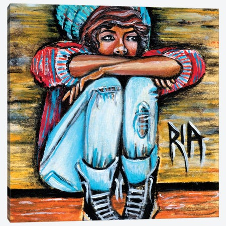 Lonely Loner Canvas Print #RIA40} by Artist Ria Canvas Art