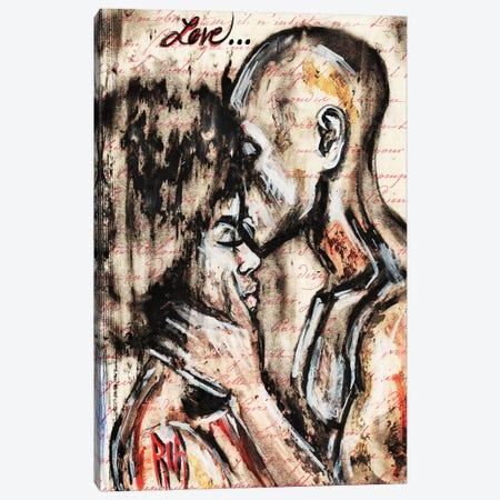 Love Story Canvas Print #RIA44} by Artist Ria Canvas Print