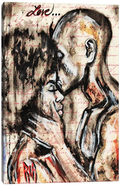 Love Story Canvas Art Print