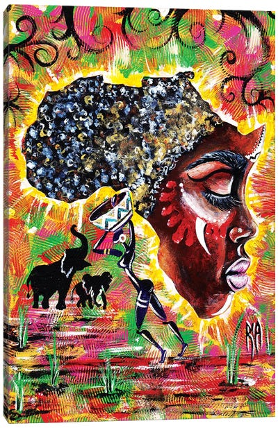 Mama Afrika Canvas Art Print