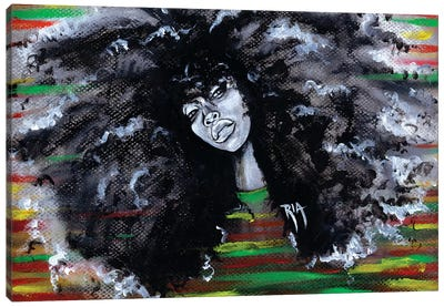 Ms Erykah Badu To You Fool Canvas Art Print
