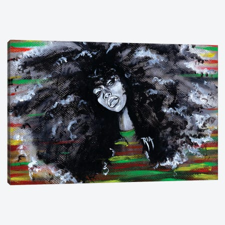 Ms Erykah Badu To You Fool Canvas Print #RIA49} by Artist Ria Canvas Artwork