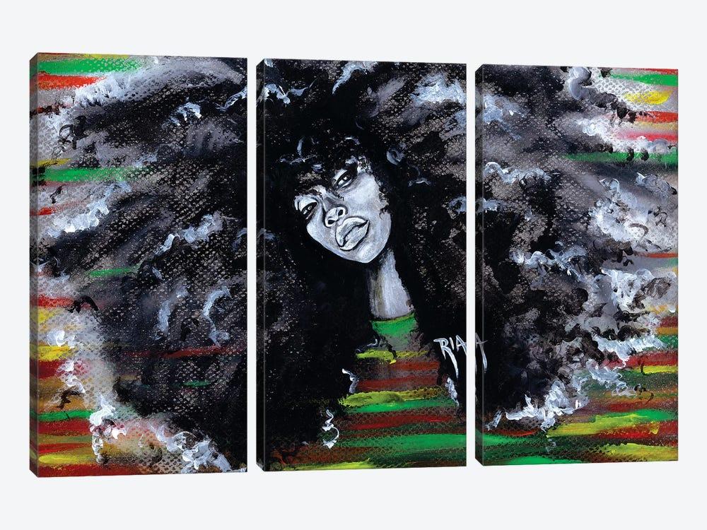 Ms Erykah Badu To You Fool by Artist Ria 3-piece Canvas Artwork