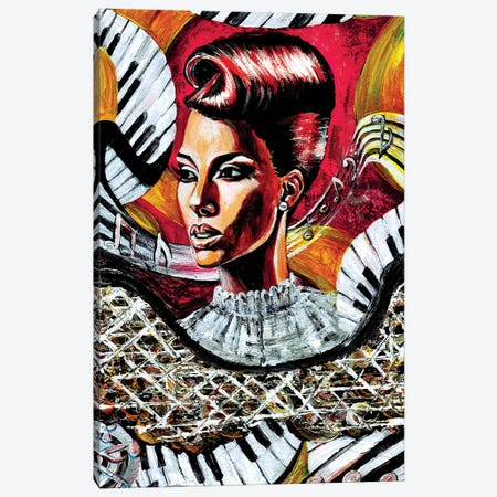 Music Taking Me Thru This Rollercoaster Ride Called Life Canvas Print #RIA50} by Artist Ria Canvas Print