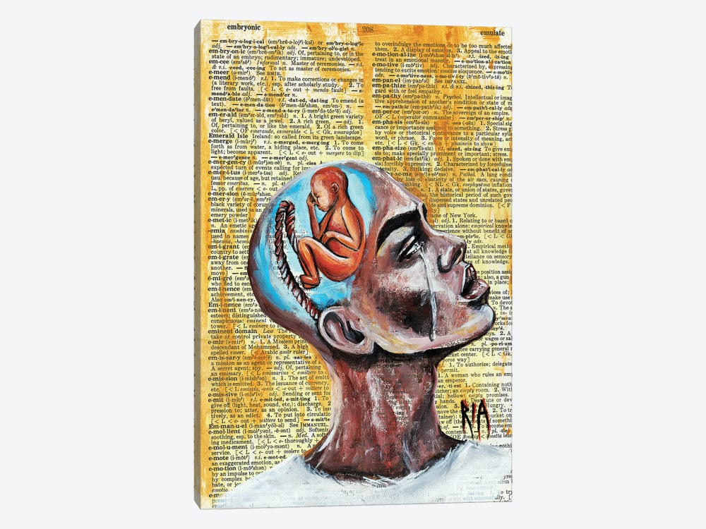 Odds Against Me by Artist Ria 1-piece Canvas Art Print