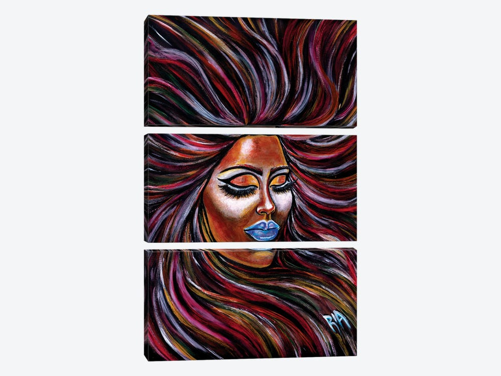Peace- Pure Endless Amorous Calm Engulfing by Artist Ria 3-piece Canvas Artwork