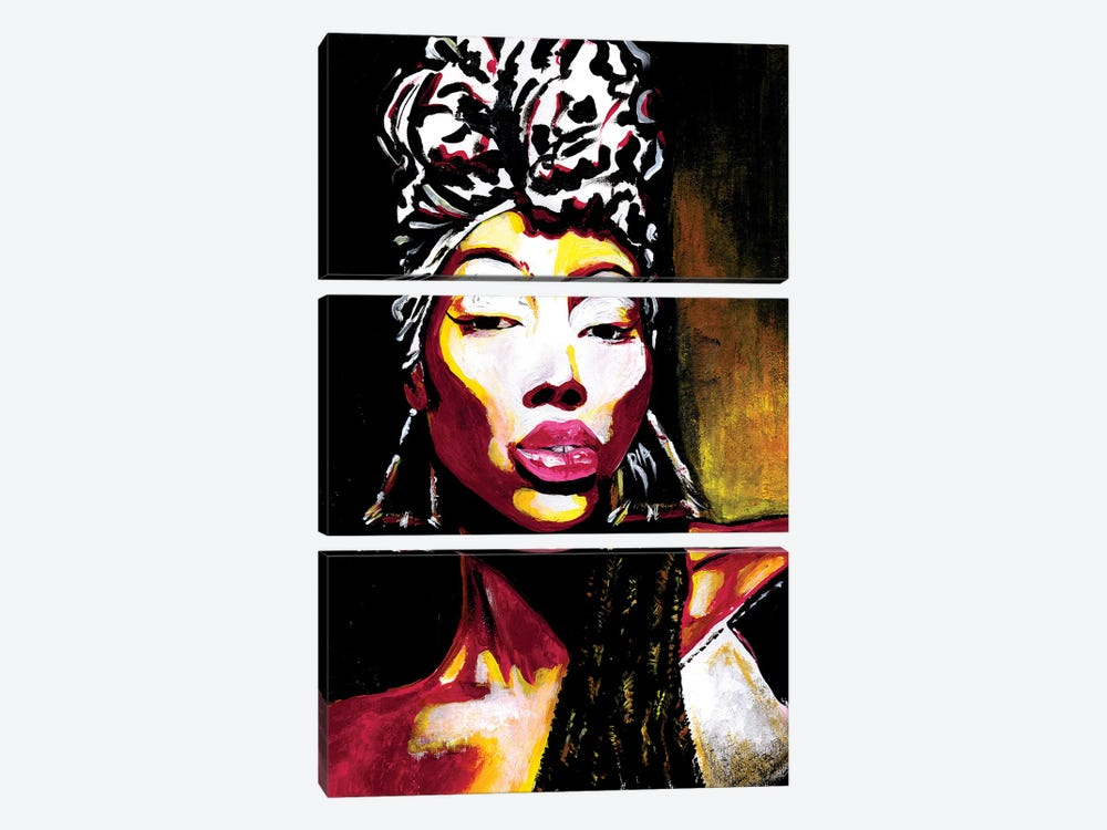 Queen Of Kings by Artist Ria 3-piece Canvas Print