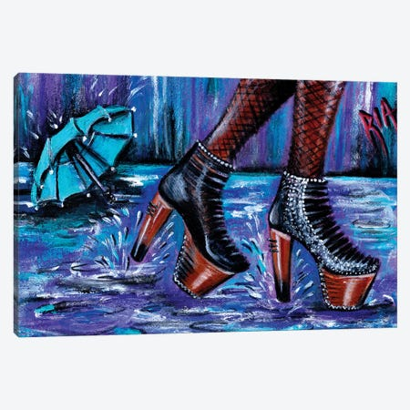 Rain Rain Go Away Canvas Print #RIA60} by Artist Ria Canvas Wall Art