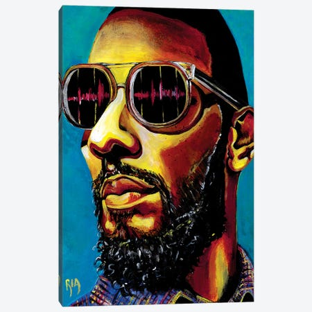 Sit Back And Watch My Beats Drop Canvas Print #RIA67} by Artist Ria Canvas Print