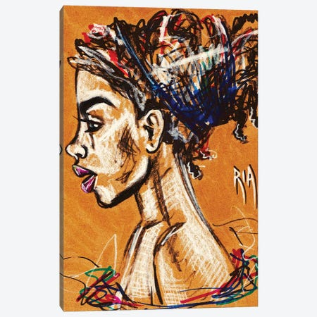 Unraveled 3-Piece Canvas #RIA77} by Artist Ria Canvas Art