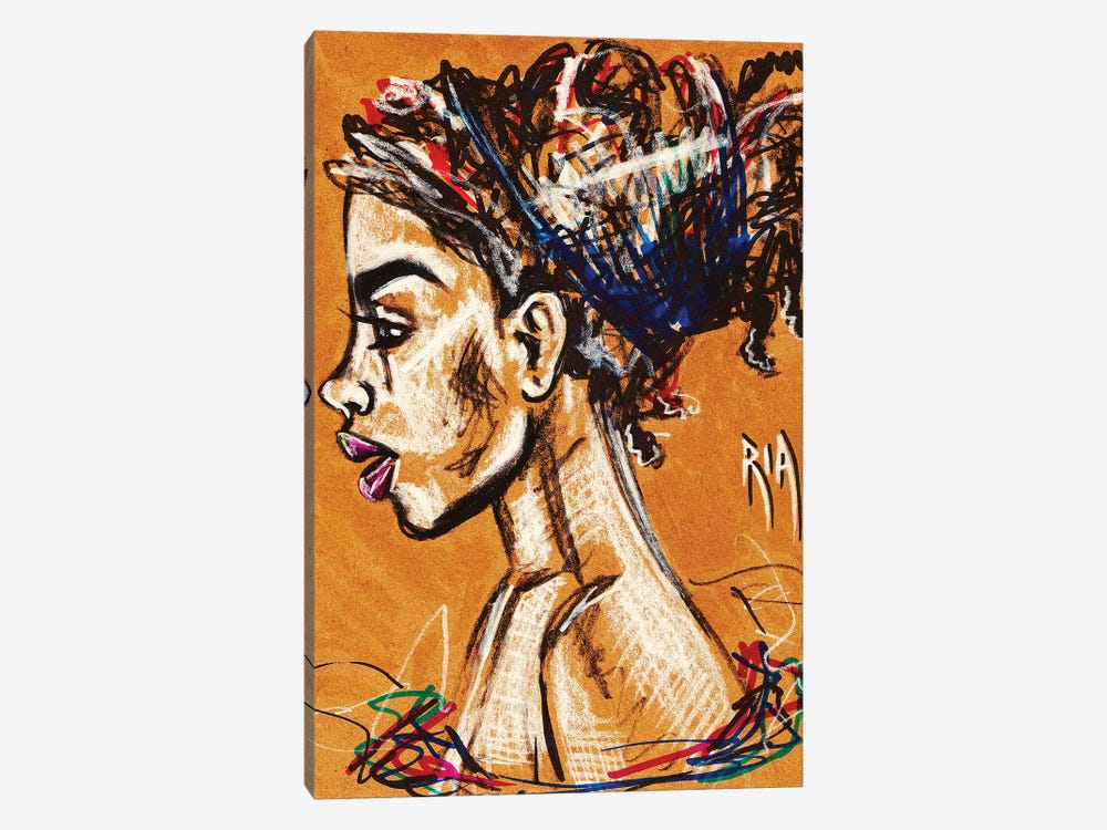 Unraveled by Artist Ria 1-piece Canvas Print