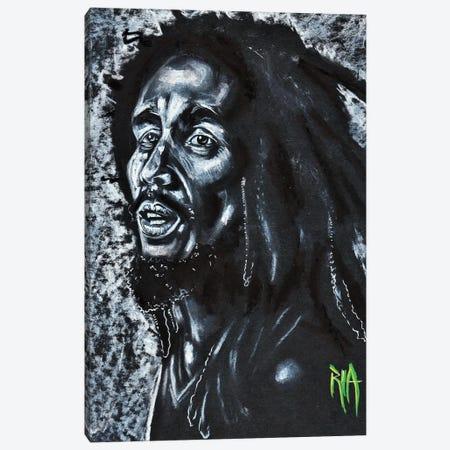 Bob Marley Canvas Print #RIA7} by Artist Ria Canvas Art