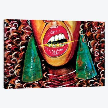 What Yo Name Is Canvas Print #RIA82} by Artist Ria Canvas Art
