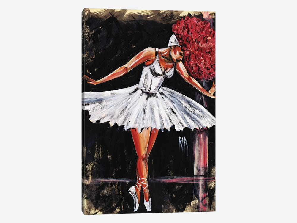 Bonjour Belle Danseuse by Artist Ria 1-piece Canvas Wall Art
