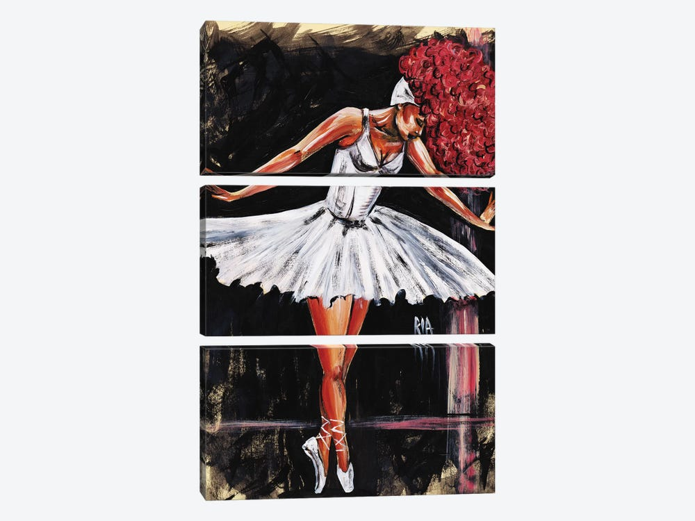 Bonjour Belle Danseuse by Artist Ria 3-piece Canvas Wall Art