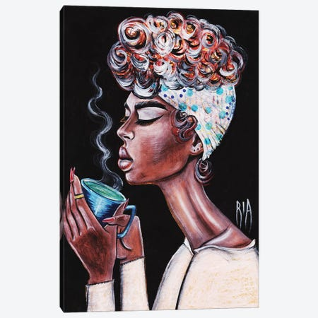 The Best Part Of Waking Up Canvas Print #RIA91} by Artist Ria Canvas Art Print