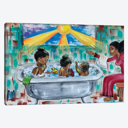 Lessons From Mommy Canvas Print #RIA92} by Artist Ria Art Print
