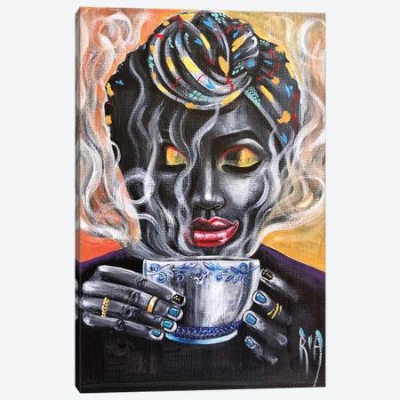 Fresh Brewed Canvas Print #RIA93} by Artist Ria Canvas Art Print
