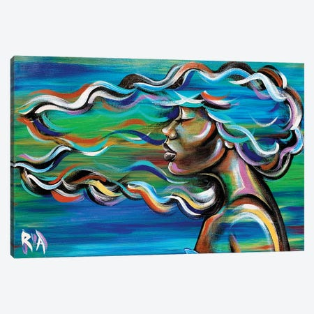 Summer Breeze....I Wish I Could Think With All The Colors Of This Wind Canvas Print #RIA96} by Artist Ria Canvas Wall Art