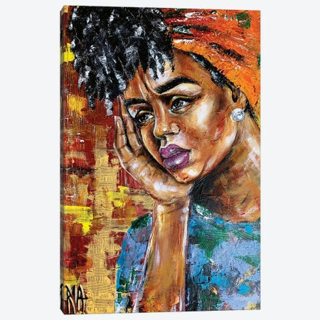 Her Shattered Thoughts Canvas Print #RIA97} by Artist Ria Canvas Art