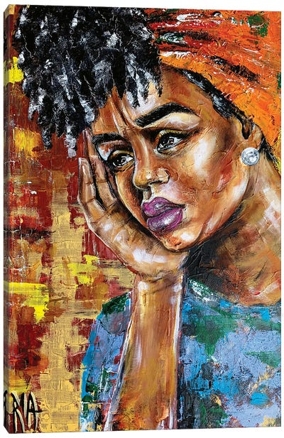 Her Shattered Thoughts Canvas Art Print
