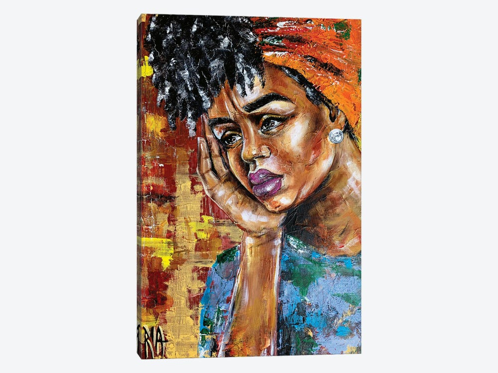 Her Shattered Thoughts by Artist Ria 1-piece Canvas Print