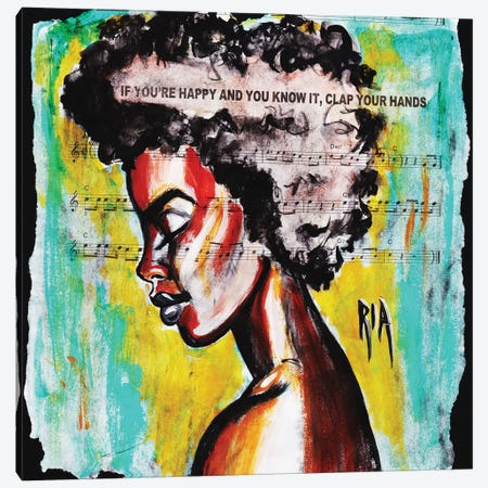 Clap Your Hands Canvas Print #RIA9} by Artist Ria Canvas Print