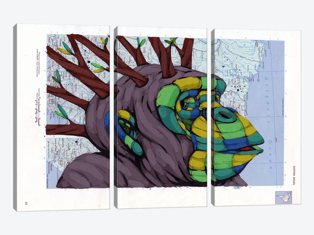 New Thoughts Branching Out by Ric Stultz 3-piece Canvas Art Print