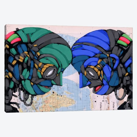 Putting Our Heads Together Canvas Print #RIC23} by Ric Stultz Canvas Wall Art