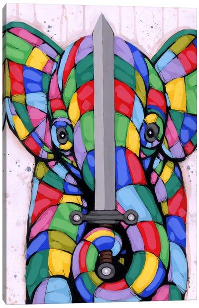 Warrior of Color Canvas Art Print