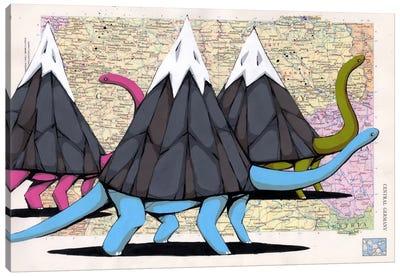 Born to Move Mountains Canvas Print #RIC42