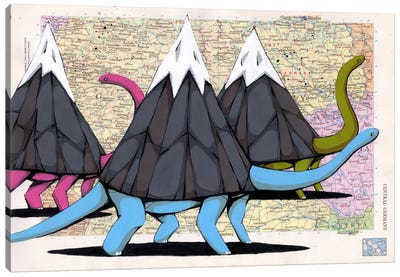 Born to Move Mountains Canvas Art Print
