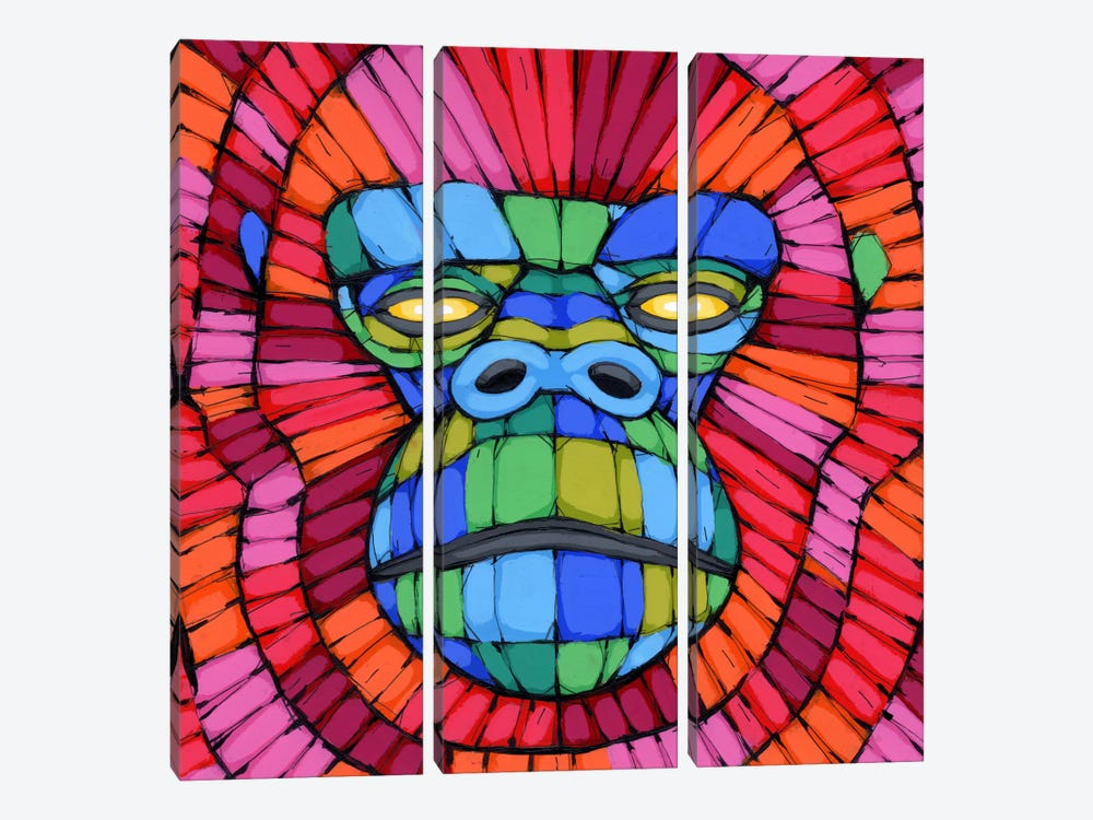 Face First 3-piece Canvas Print