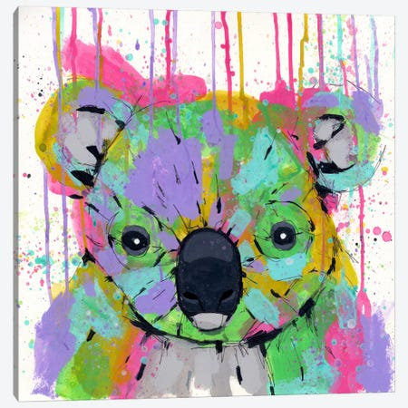 Panda Colors Canvas Print #RIC74} by Ric Stultz Canvas Artwork
