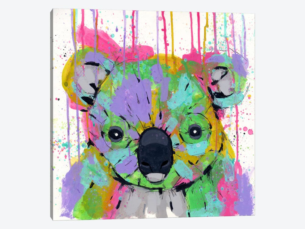 Panda Colors 1-piece Canvas Print