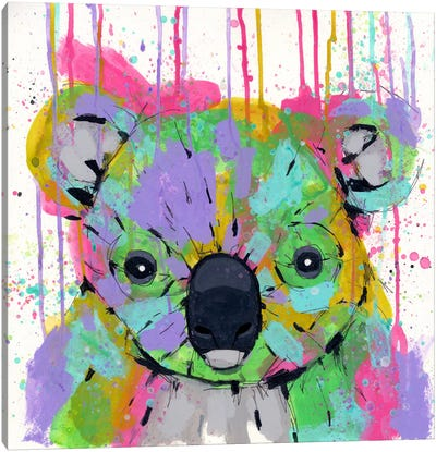 Panda Colors Canvas Art Print