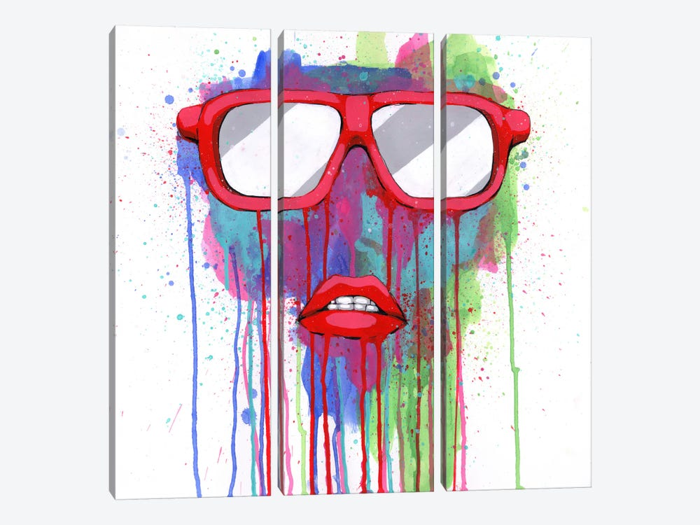Red Shades by Ric Stultz 3-piece Canvas Art Print